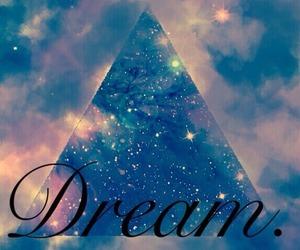 Dream, galaxy, and triangle image