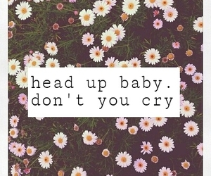 cry, baby, and flowers image