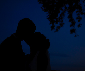 kiss, silhouette, and love image