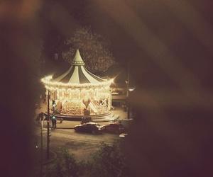 night, carousel, and light image