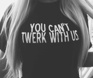 twerk, shirt, and blonde image