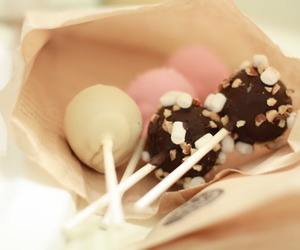 cake, cake pops, and coffee image