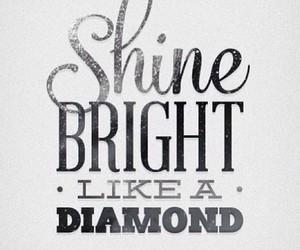 diamond, shine, and rihanna image