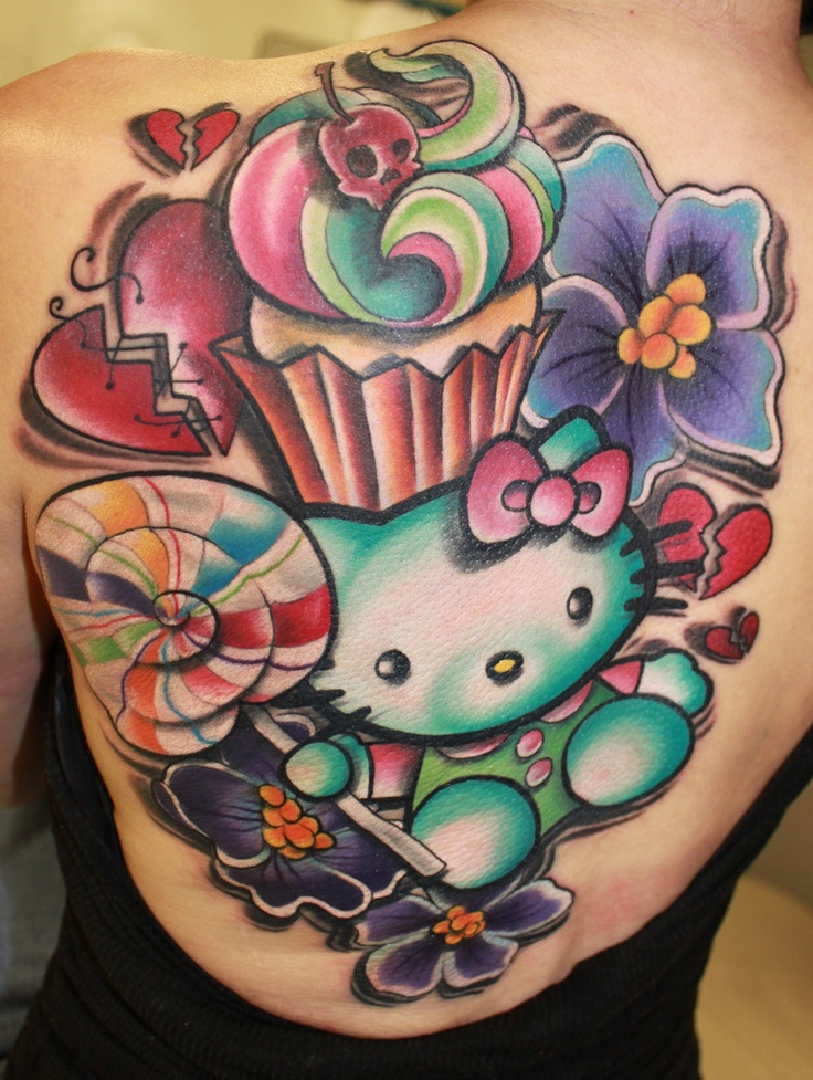 9d5cb8091 Hello Kitty Tattoo uploaded by 啓子 on We Heart It