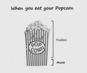 popcorn, movie, and trailer image