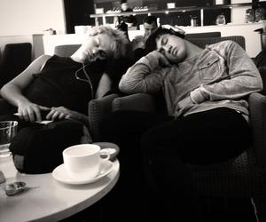 black and white, michael clifford, and 5sos image