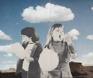 clouds, sky, and kids image