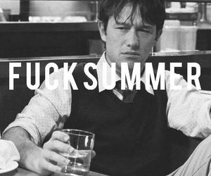 500 Days of Summer, b&w, and text image