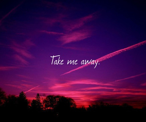 quotes, sky, and away image