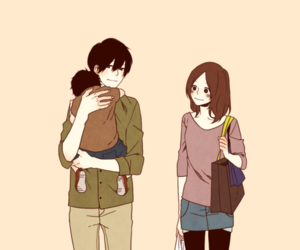 family, anime, and couple image
