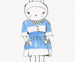 art, bunny, and chanel image