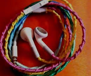 headphones, diy, and music image
