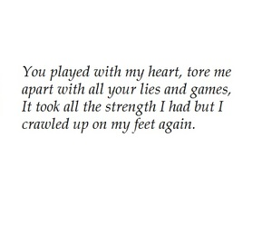 broken, quote, and love image