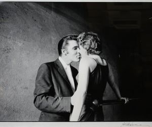 elvis, black and white, and kiss image