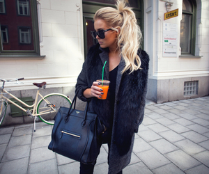 blogger, juice, and ponytail image