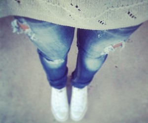 converse, jeans, and pullover image