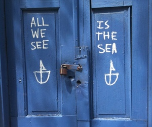 blue, sea, and door image