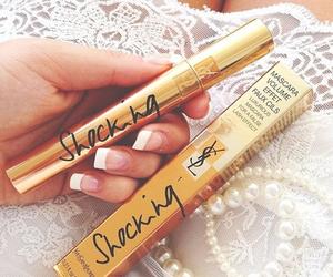 mascara, makeup, and nails image