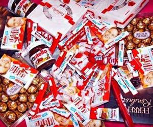 chocolate, kinder, and nutella image