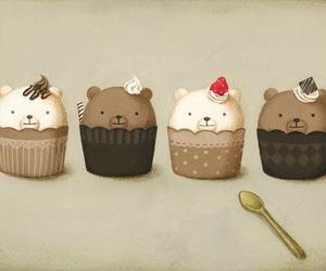 bear and cupcake image