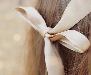 hair, bow, and ribbon image