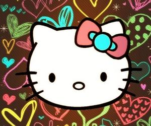 hello kitty, background, and wallpaper image