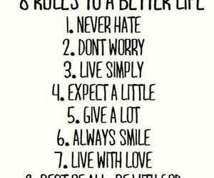 life, quotes, and rules image
