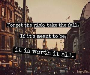quote, risk, and fall image