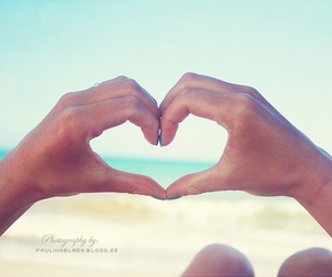 happiness, ocean, and heart image