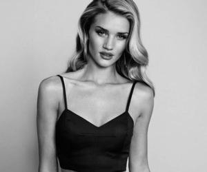 model, black and white, and rosie huntington-whiteley image
