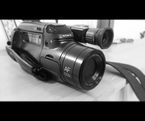awesome, black&white, and videocamera image