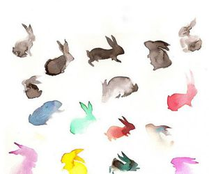 colors, drawing, and rabbit image