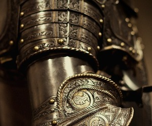 armour, iron, and gold image