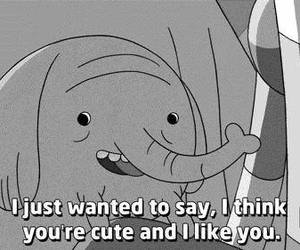 cute, adventure time, and black and white image
