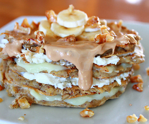 food, delicious, and pancakes image
