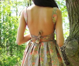 backless, girly, and print image