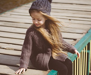 autumn, cute little girl, and love image