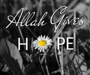 quote, allah, and hope image