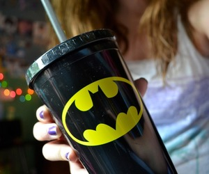 batman, cup, and cool image
