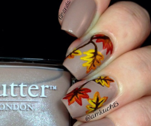 autum, braun, and nailart image