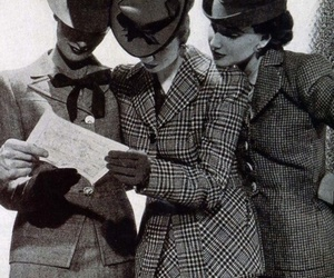1940s, hats, and reading image