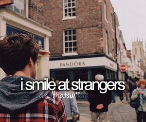 smile, stranger, and quotes image
