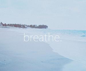 breathe, beach, and sea image
