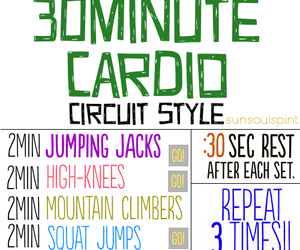 fitness, workout, and cardio image