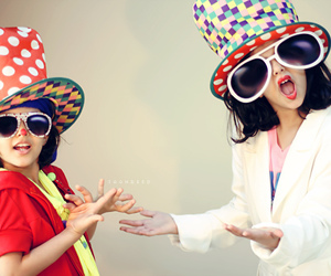 clowns, colorfull, and cute kids image