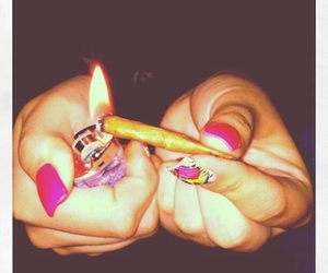 joint, lighter, and pink image