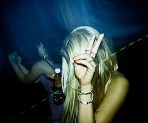 party, girl, and peace image