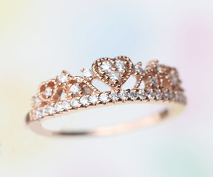 heart ring, princess ring, and tiara ring image