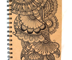 doodle, flowers, and ink image