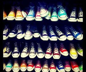 colors, fashion, and converses image